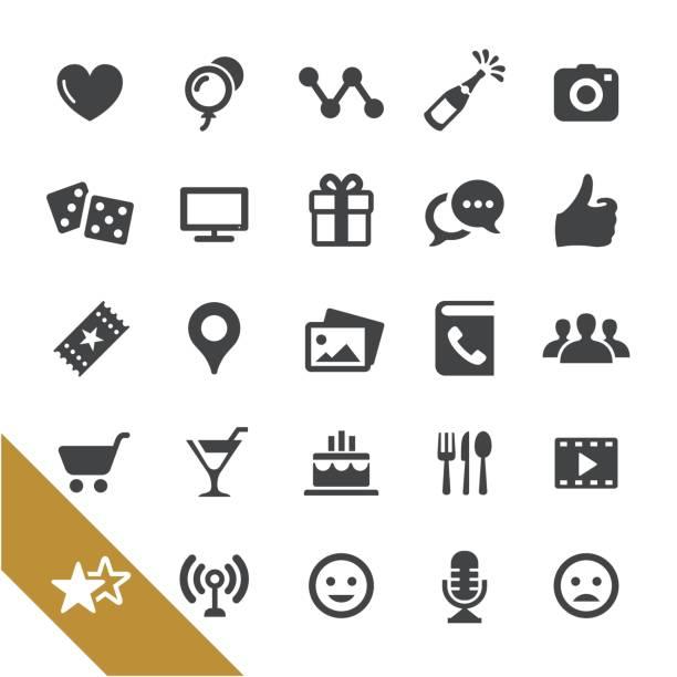 illustrations, cliparts, dessins animés et icônes de réseaux sociaux et les icônes de divertissement - série select - ballon anniversaire smiley