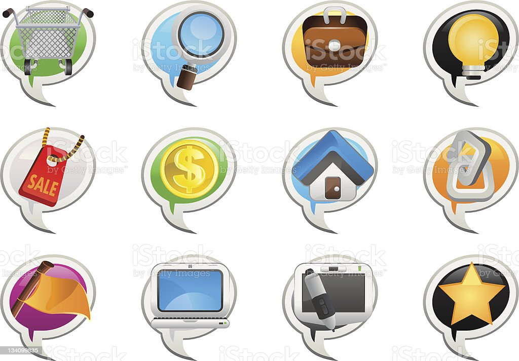 Social Networking Bubble Icon royalty-free stock vector art