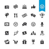 Social Networking & Entertainment related sign and icon BASE pack #60