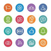 Social Networking Icons - Circle Line Series