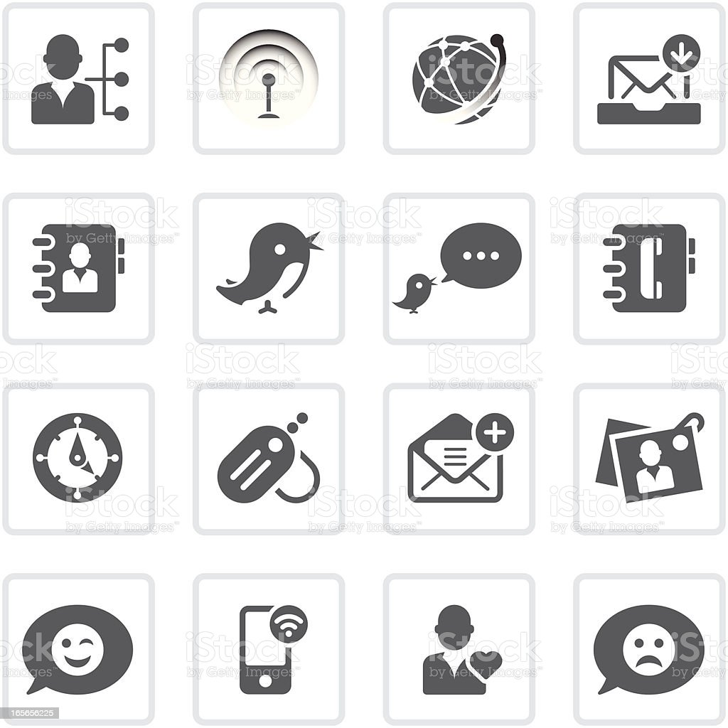 Social networking icons | prime series royalty-free social networking icons prime series stock vector art & more images of address book