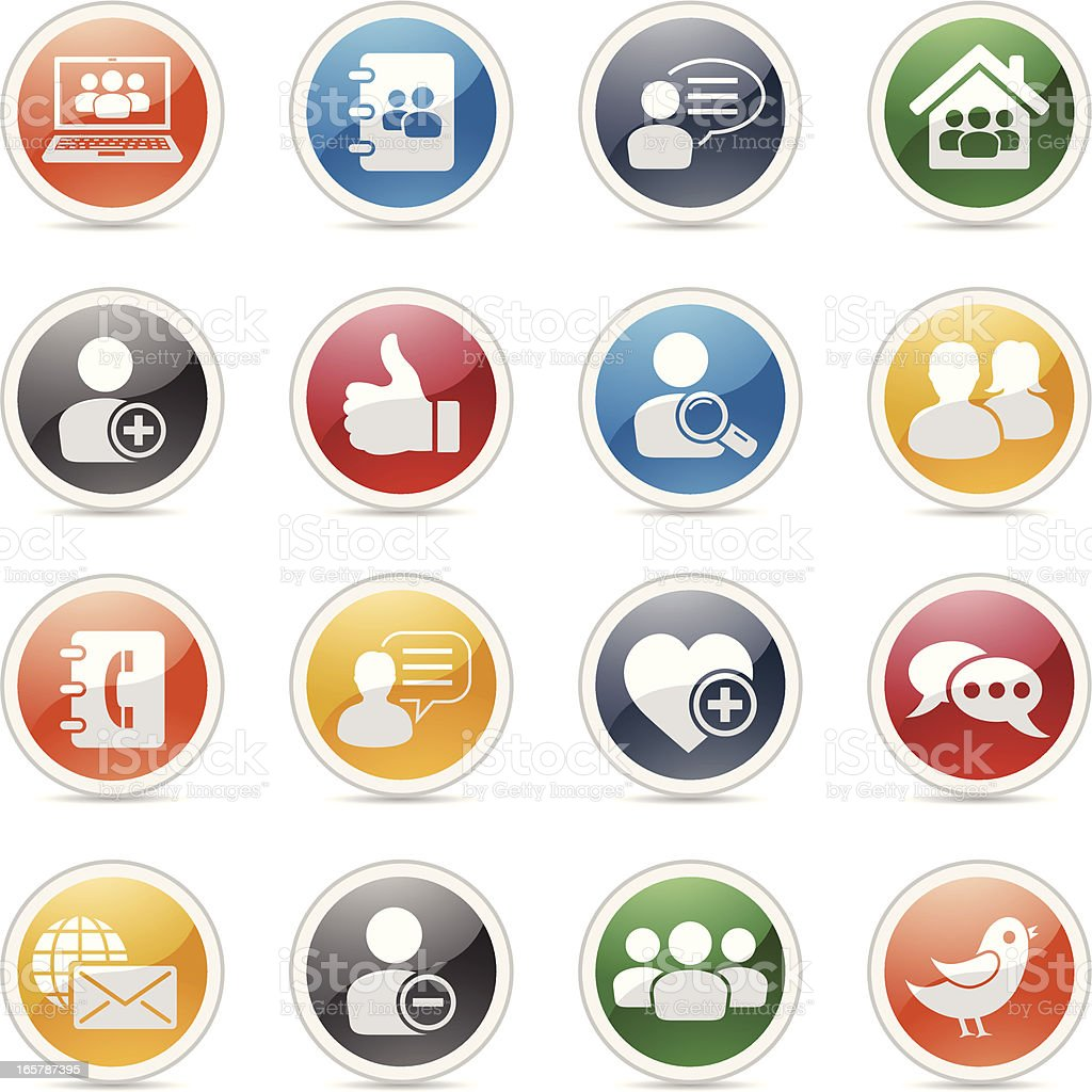 Social Networking Icons royalty-free stock vector art