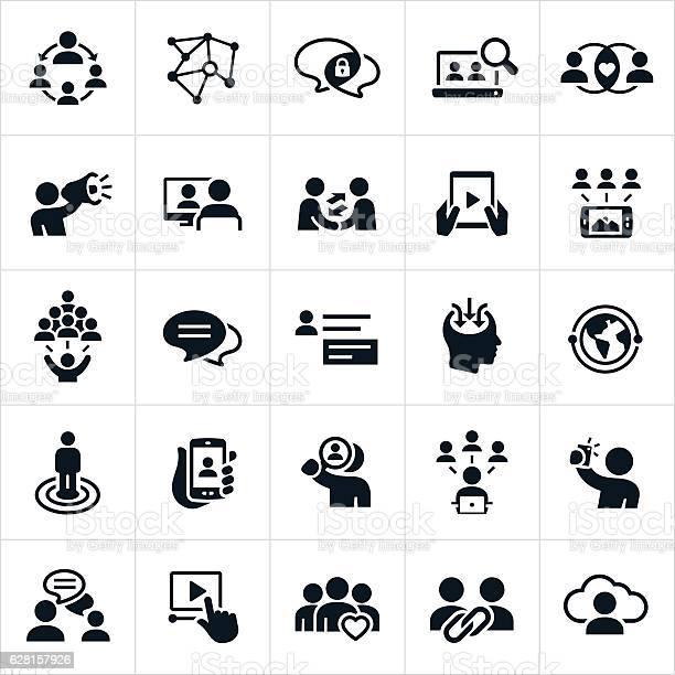 Ícones De Redes Sociais - Arte vetorial de stock e mais imagens de Alvo