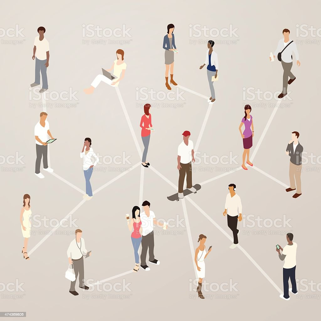 Social Networking Illustration royalty-free social networking illustration stock vector art & more images of 20-29 years