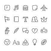Social Networking related vector icons.