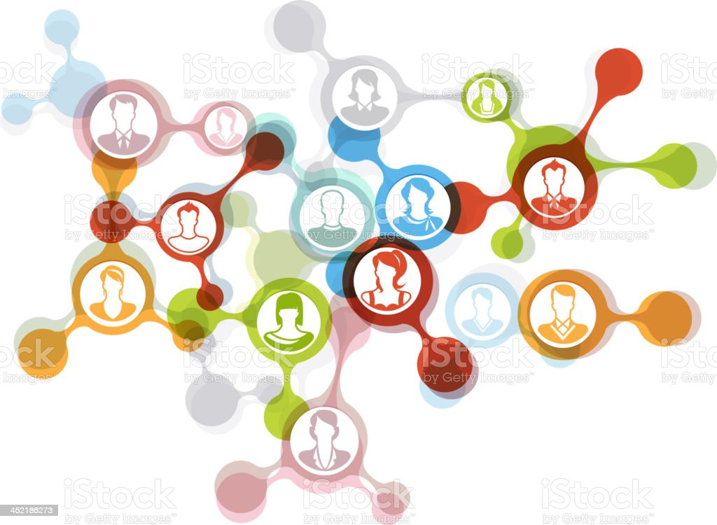 Social Networking royalty-free social networking stock vector art & more images of bonding
