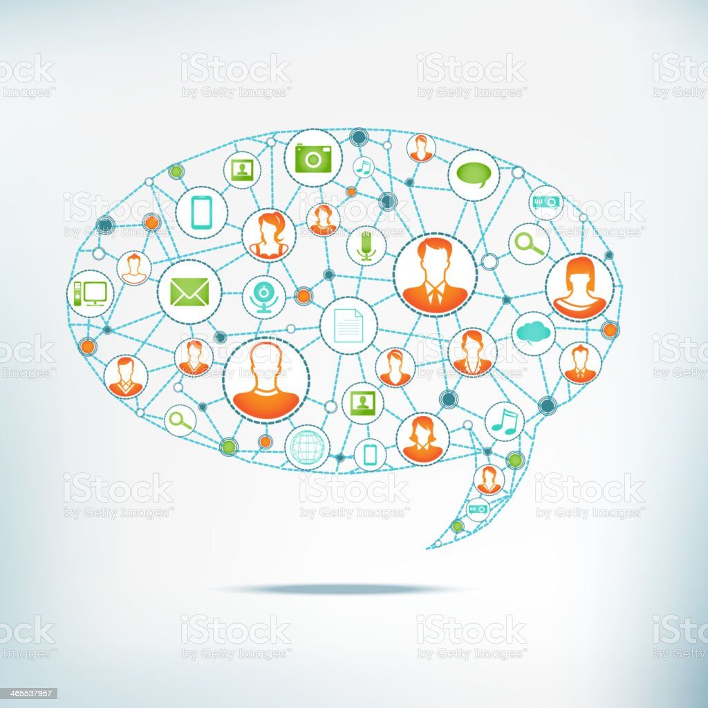 Social Networking royalty-free stock vector art