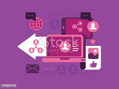 Vector illustration for Social Networking Concept