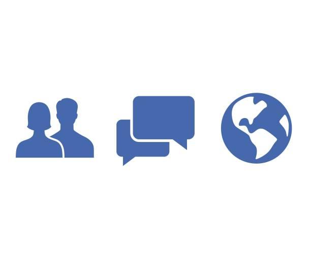 social networks icon vector art illustration