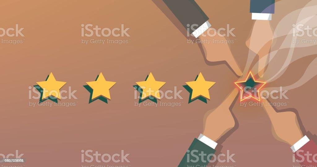 Social Rating social rating - arte vetorial de stock e mais imagens de amarelo royalty-free