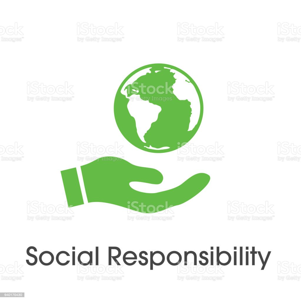 Social Responsibility Solid Icon Set W Honesty Integrity