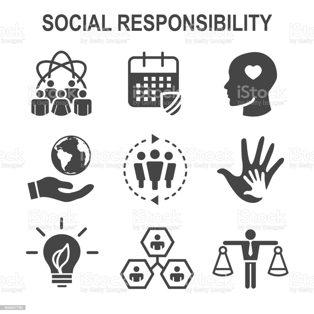 Social responsibility solid icon set w honesty integrity social responsibility solid icon set w honesty integrity collaboration etc royalty biocorpaavc Image collections