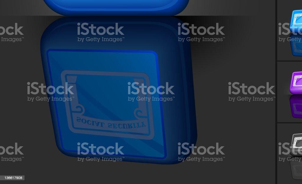 social security card 3D button design royalty-free social security card 3d button design stock vector art & more images of black color