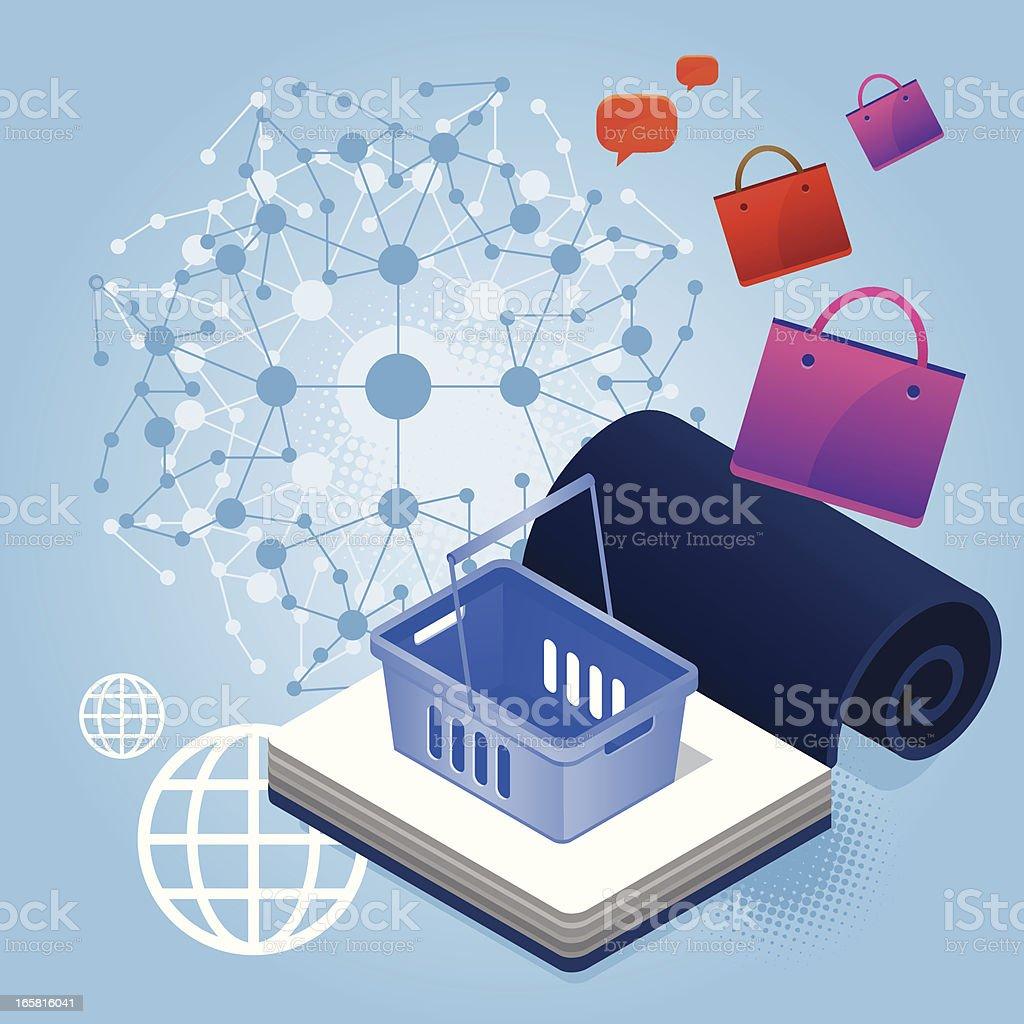 Social shopping royalty-free social shopping stock vector art & more images of bag