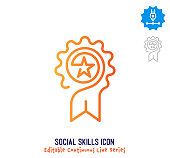 istock Social Skills Continuous Line Editable Icon 1250538977