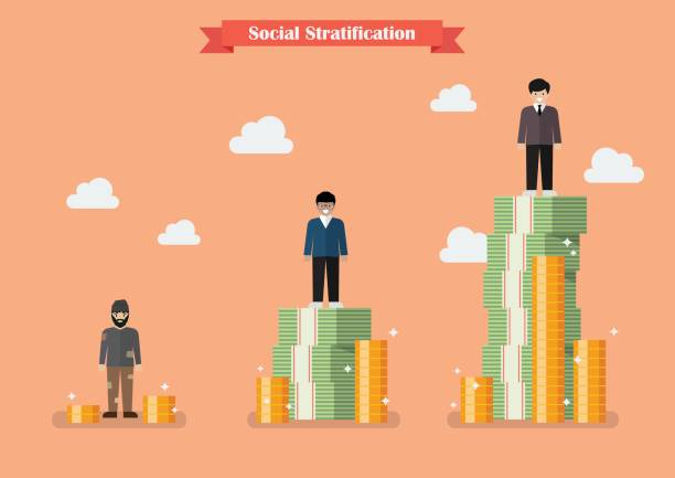social stratification with money - wealth stock illustrations, clip art, cartoons, & icons