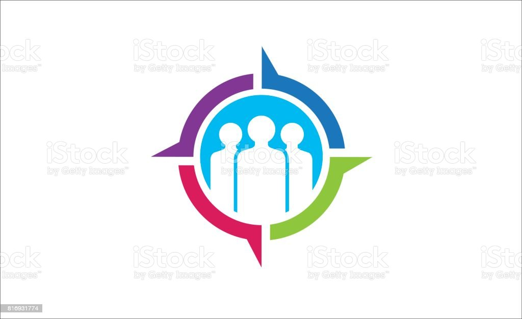 Social Target Symbol Design Stock Vector Art More Images Of Advice