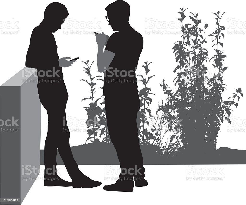 Socially Inclined People Silhouettes – Vektorgrafik