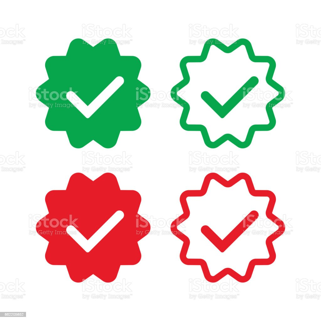 social-networks-verified-badges-2 copy vector art illustration