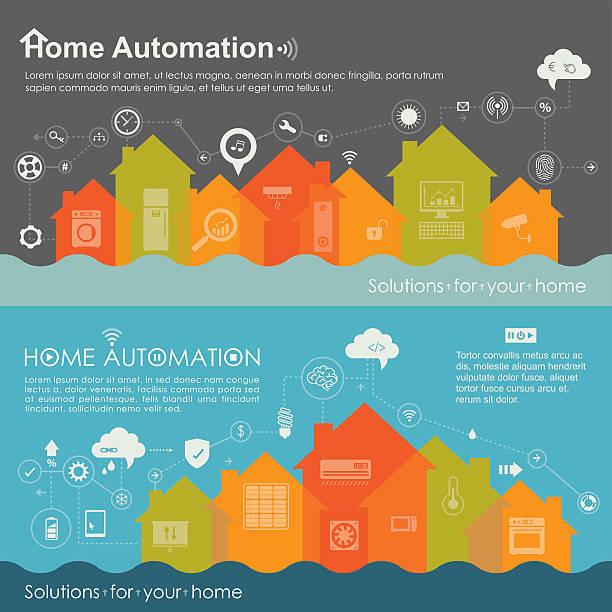 Society Living In Smart Houses vector art illustration