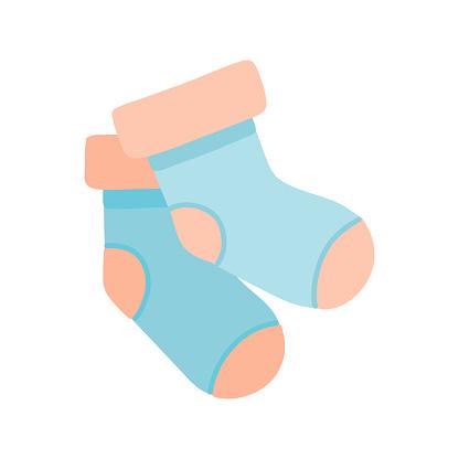 Sock Cartoon Style Icon. Colorful Symbol Vector Illustration