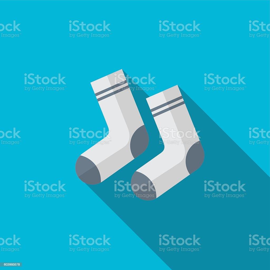 Sock flat icon illustration vector art illustration