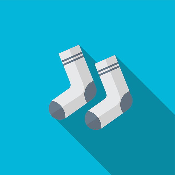 Sock flat icon illustration vector art illustration