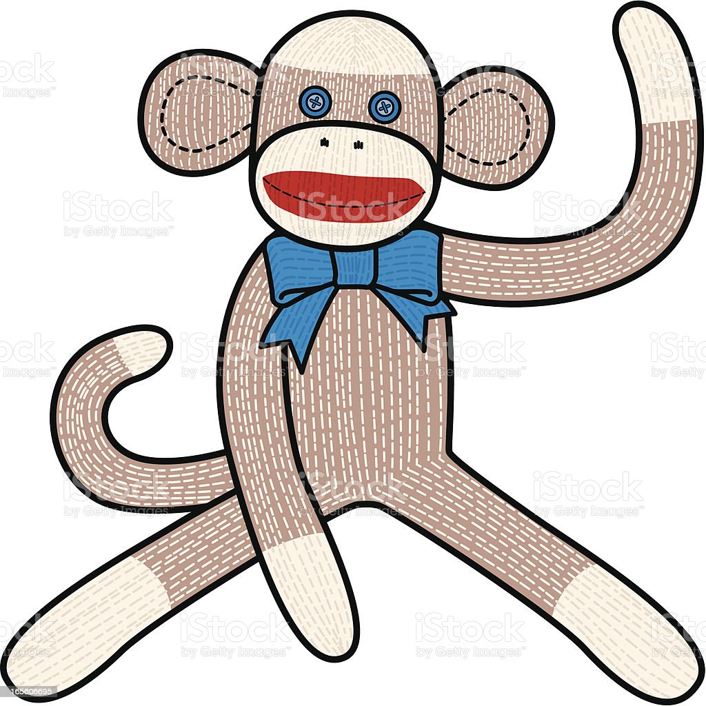 royalty free sock monkey clip art vector images illustrations rh istockphoto com clipart sock monkey free Sock Monkey Clip Art Black and White