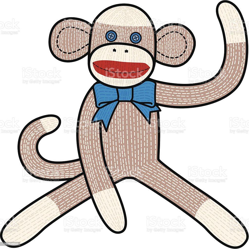 royalty free sock monkey clip art vector images illustrations rh istockphoto com sock monkey clip art pink sock monkey clip art free