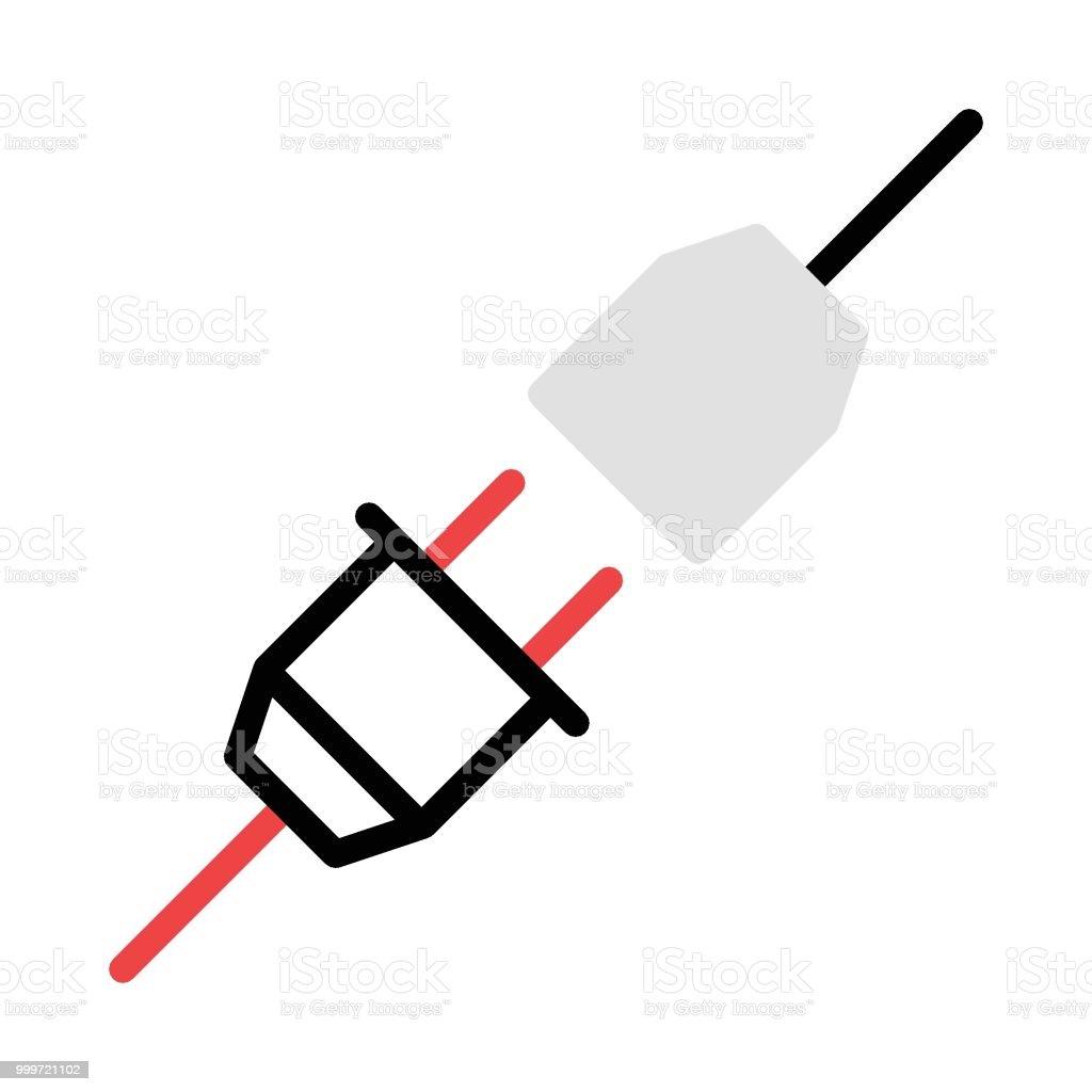 socket vector art illustration
