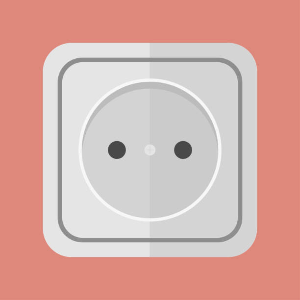 socket with a plug - electrical wiring home stock illustrations, clip art, cartoons, & icons