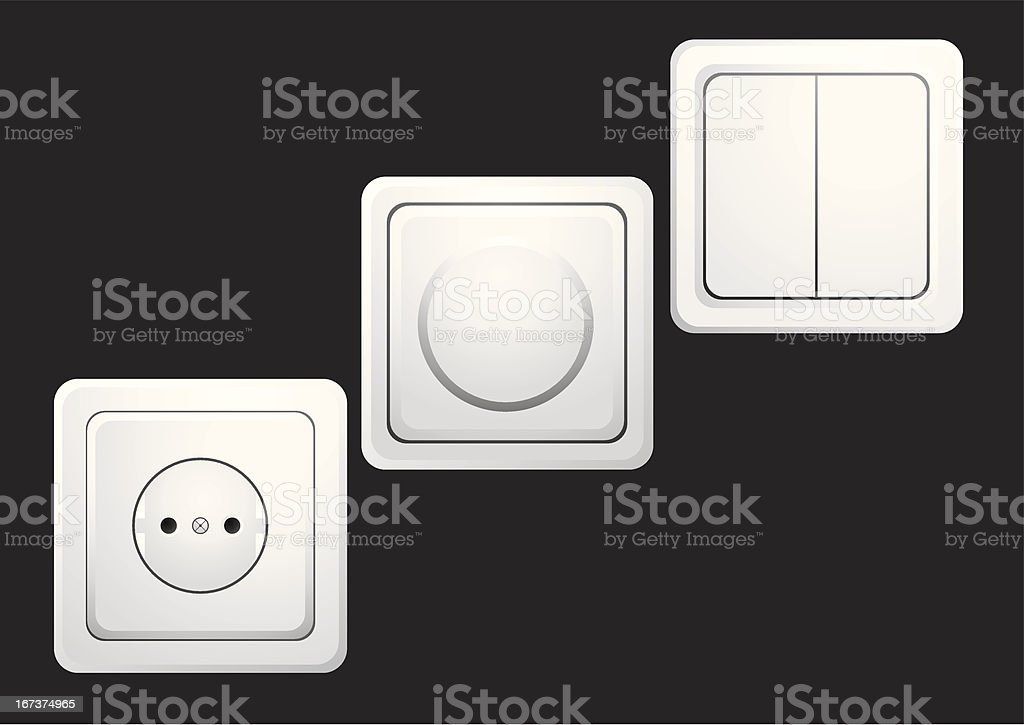 Sockets and switches royalty-free sockets and switches stock vector art & more images of black color