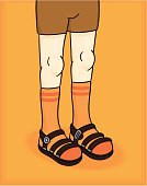 Socks and Sandals is the next big fashion trend - I'm sure of it. File includes an editable vector file formant and a high resolution .jpeg.