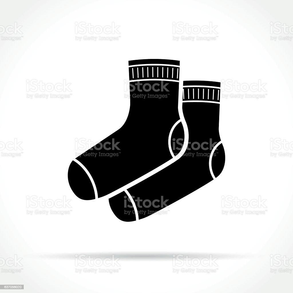 socks icon on white background vector art illustration