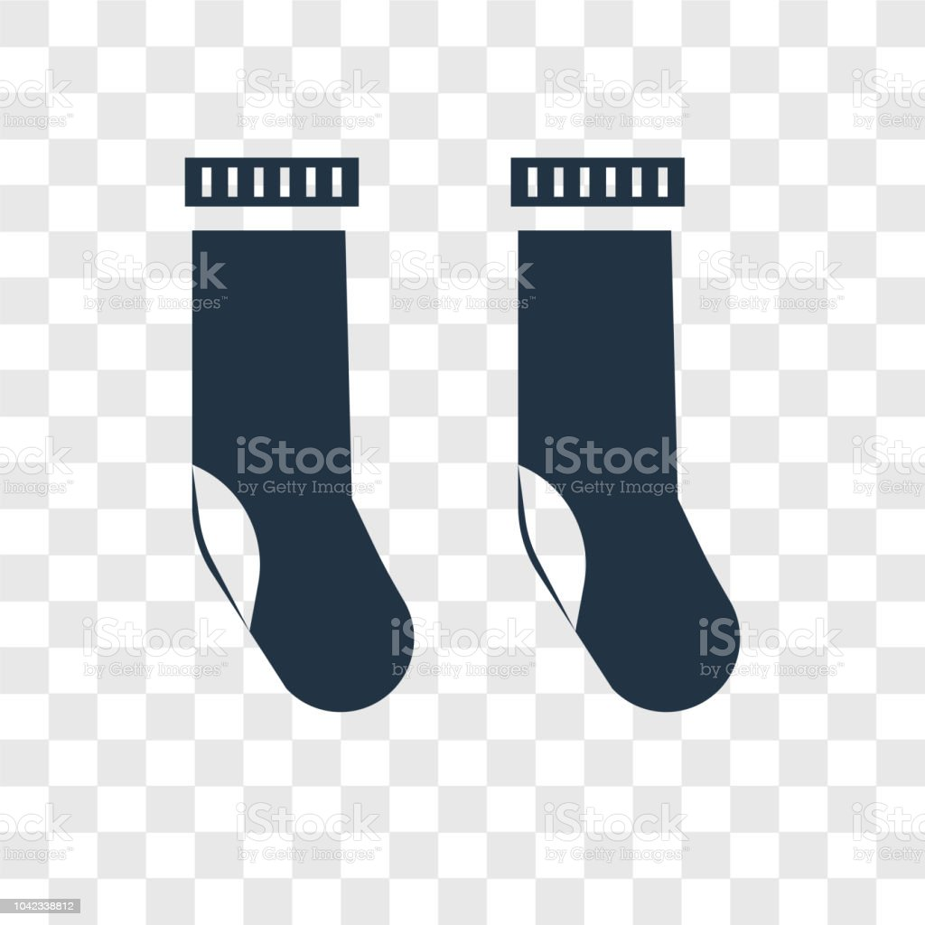 Socks vector icon isolated on transparent background, Socks transparency logo design vector art illustration