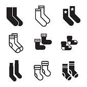 istock Socks vector icons 915307638