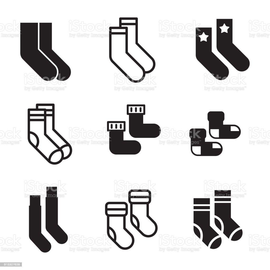 Socks vector icons vector art illustration