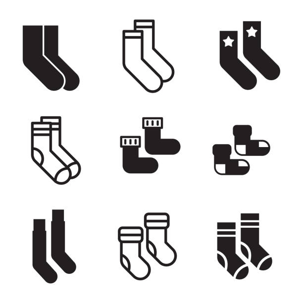 Socks vector icons vector art illustration