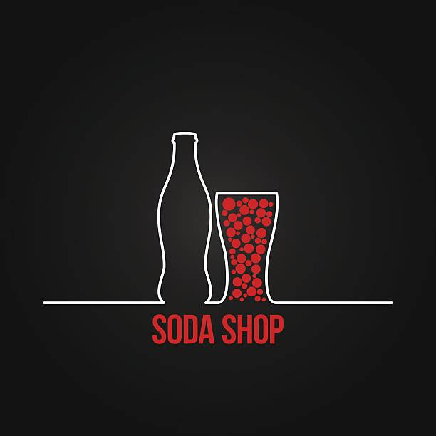 stockillustraties, clipart, cartoons en iconen met soda bottle splash design menu backgraund - cola