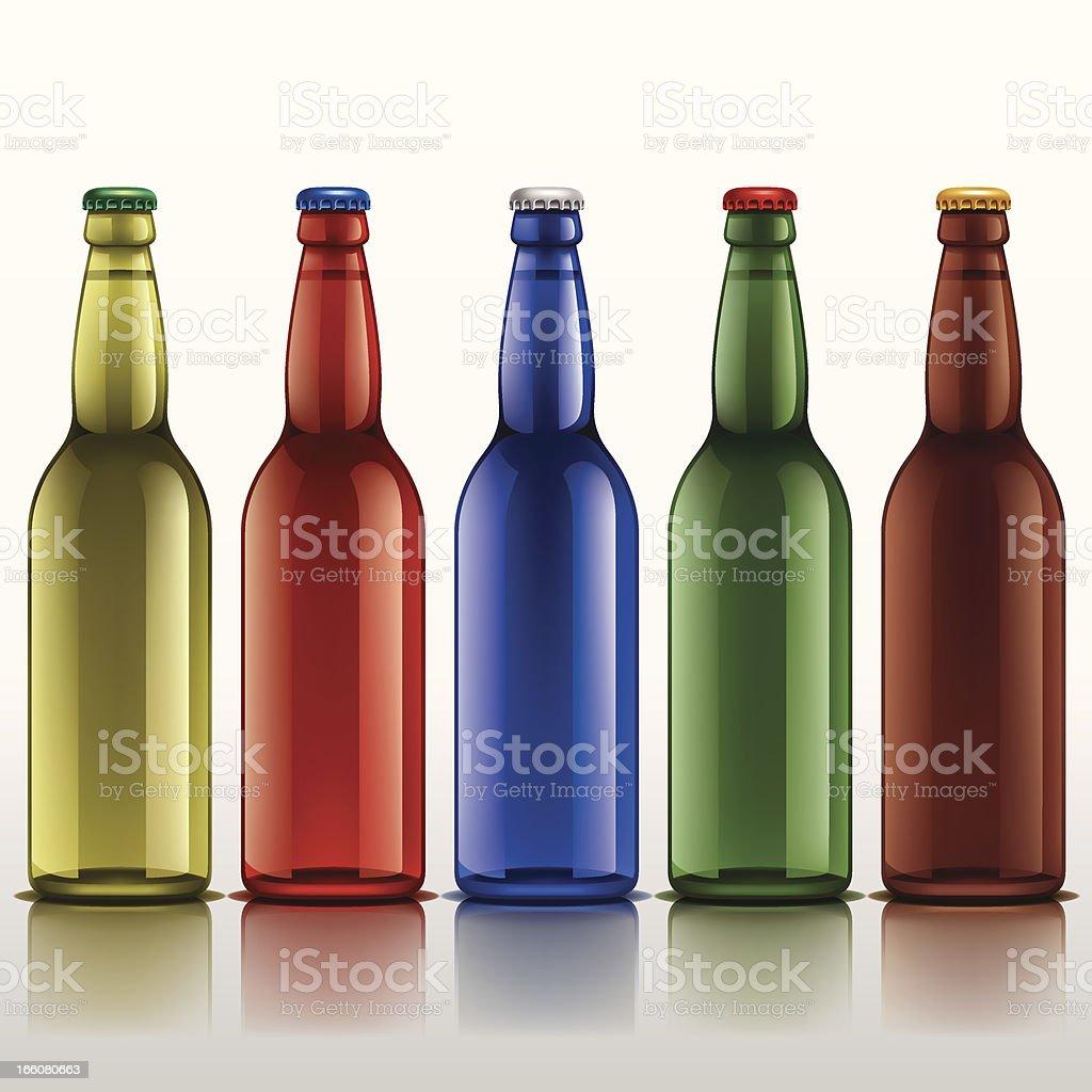 Soda Bottles royalty-free stock vector art