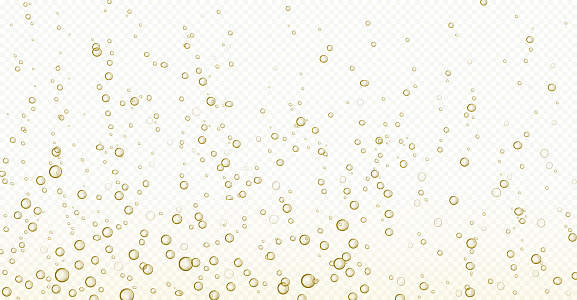 Soda bubbles, champagne, water or oxygen air fizz
