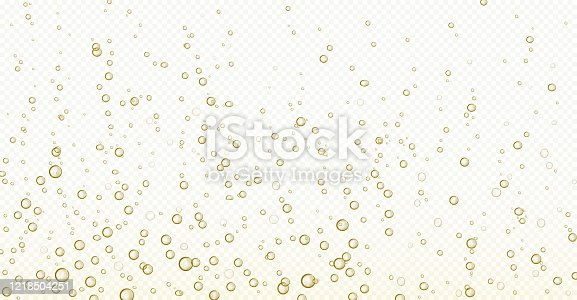 istock Soda bubbles, champagne, water or oxygen air fizz 1218504251