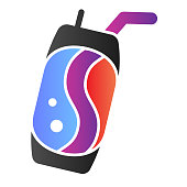Soda can flat icon. Lemonade color icons in trendy flat style. Beverage can gradient style design, designed for web and app. Eps 10