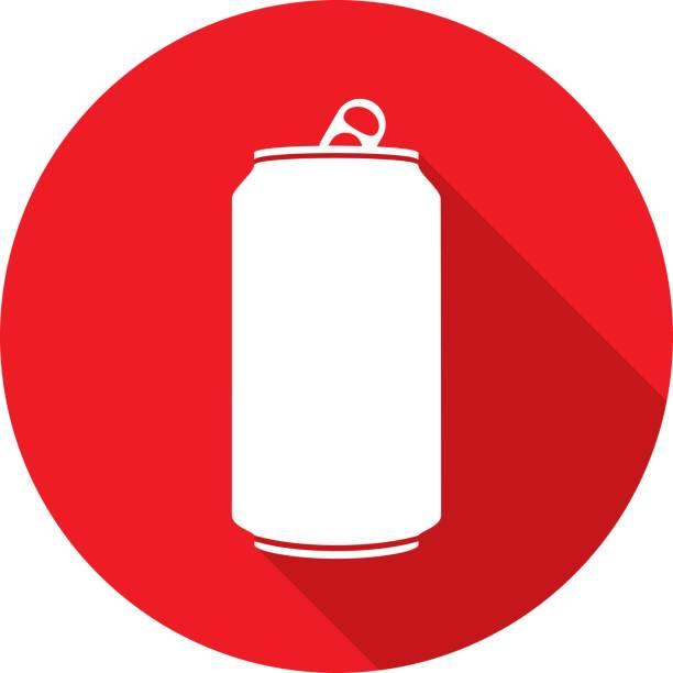 ilustrações, clipart, desenhos animados e ícones de silhueta de ícone de lata de refrigerante - refrigerante