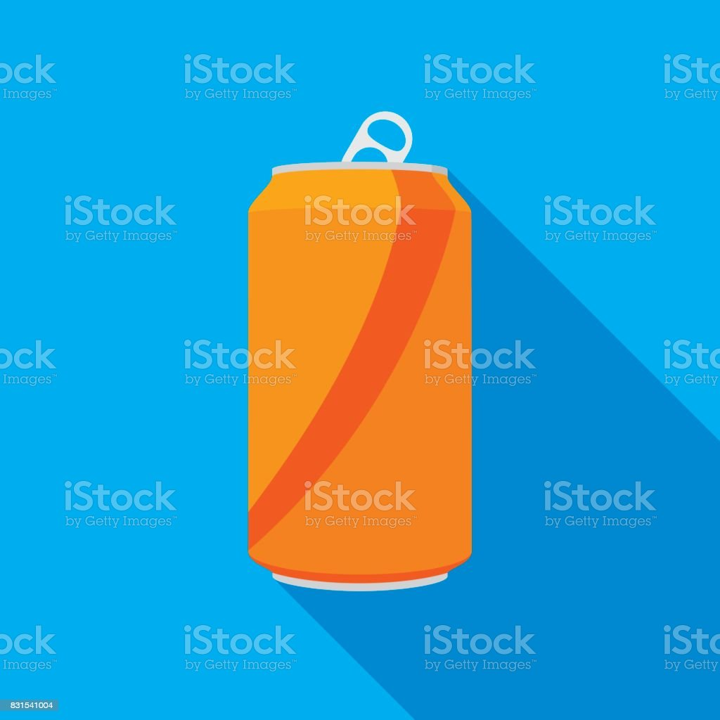 Soda Can Icon vector art illustration