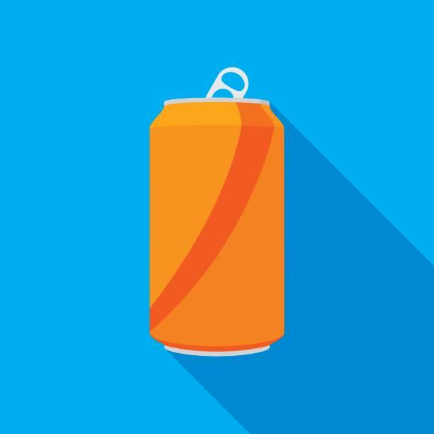 ilustrações, clipart, desenhos animados e ícones de ícone de lata de refrigerante - refrigerante