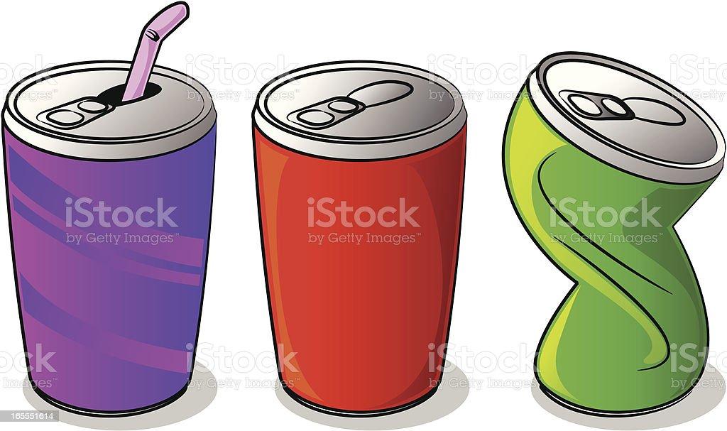 Soda Cans Cartoon vector art illustration