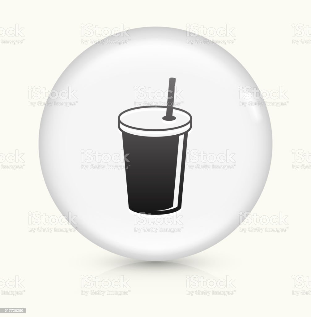 Soda Drink icon on white round vector button vector art illustration