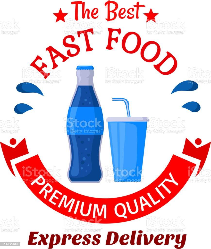 Soda Getränke Symbol Für Fastfoodcafédesign Stock Vektor Art und ...