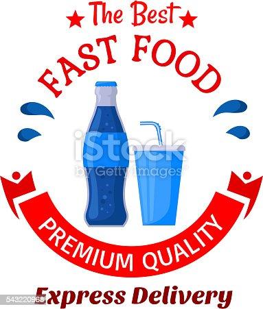 Soda Drinks Symbol For Fast Food Cafe Design Stock Vector Art More